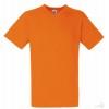 Camiseta personalizada Value Cuello V Publicidad Color Naranja