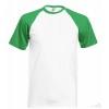 Camiseta Baseball para Eventos Promocional Color Verde y Blanco