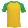Camiseta Baseball para Eventos Personalizada Color Verde y Amarillo