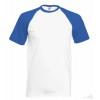 Camiseta Baseball para Eventos Publicitaria Color Blanco y Azul