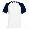 Camiseta Baseball para Eventos Promocionales Color Blanco y Azul Marino