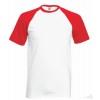 Camiseta Baseball para Eventos con Logo Color Blanco y Rojo