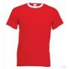 Camiseta Ringer Promocional para Eventos Color Rojo y Blanco