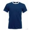 Camiseta Ringer Promocional Publicidad Color Azul Marino y Blanco