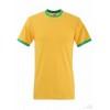 Camiseta Ringer Promocional para Empresas Color Girasol y Verde