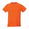 Camiseta Promocional Slim T Personalizada Color Naranja