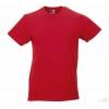 Camiseta Promocional Slim T Publicitaria Color Rojo Clásico