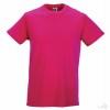 Camiseta Promocional Slim T Barata Color Fucsia