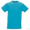 Camiseta Promocional Slim T Publicitaria Color Turquesa