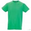 Camiseta Promocional Slim T con Logo Color Verde Manzana