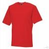 Camiseta Clasica de Publicidad Merchandising Color Rojo Brillo