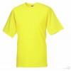 Camiseta Clasica de Publicidad para Campañas Publicitarias Color Amarillo