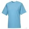 Camiseta Clasica de Publicidad Personalizada Color Azul Cielo