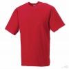 Camiseta Clásica Alto Gramaje para Eventos Color Rojo Clásico