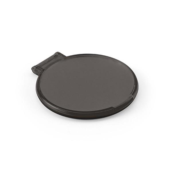 Espejo de maquillaje redondo de pl stico con logo para for Espejo redondo negro