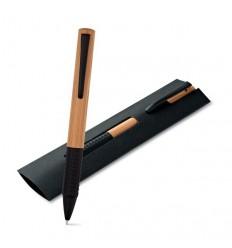 Bolígrafo Promocional de Bambú Logo Personalizado