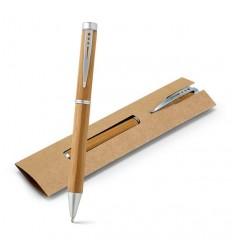 Bolígrafo Publicitario de Bambú con Logo Personalizado