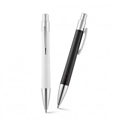 Bolígrafo de Plástico con Clip de Metal