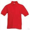 Polo Promocional 65/35 Infantil con Logo Color Rojo
