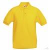 Polo Promocional 65/35 Infantil Merchandising Color Amarillo Grasol