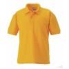 Polo Clásico Promocional Infantil Merchandising Color Oro Puro