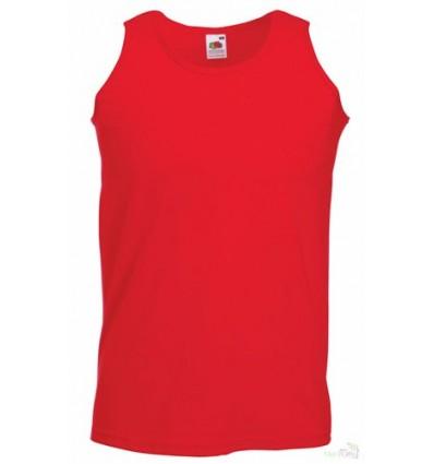 Camiseta de Atleta Promocional con Logotipo Color Rojo