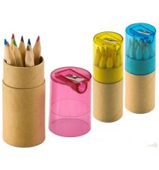 12 Lápices de Colores en Caja de Tubo Merchandising