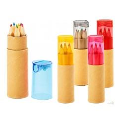 Caja con 6 Lápices de Colores con Sacapuntas Merchandising