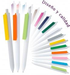 Bolígrafo Promocional Cuerpo Blanco para Empresas