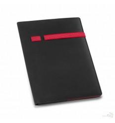Portafolios de Microfibra con Soporte para Bolígrafo Promocional Color Rojo