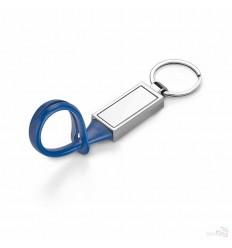 Llavero de Metal con Tira de PVC para Publicidad Color Azul