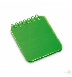 Bloc de Notas con Tapa de Polipropileno Semirrígida Personalizado Color Verde Claro