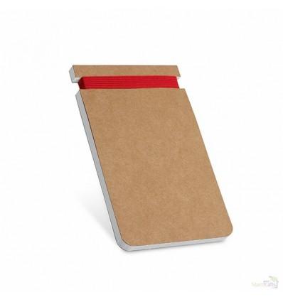 Bloc de Notas con Papel Reciclado de Cartón Promocional Color Rojo