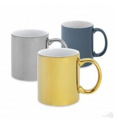 Taza Mug Personalizada de Cerámica con Acabado Metalizado