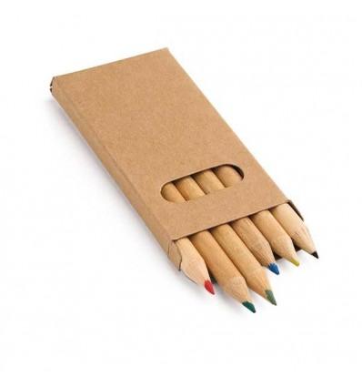 Caja con 6 Lápices de Colores Promocional