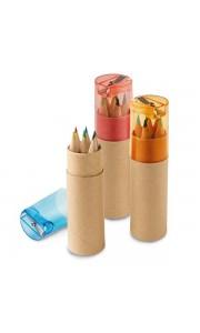 Caja redonda con 6 Lápices de Colores