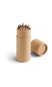 Caja redonda con 12 Lápices de Colores