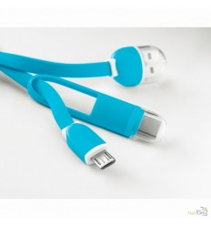 Llavero con Conector USB y MicroUSB para Campañas Publicitarias