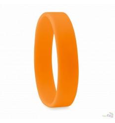 Pulsera Lisa de Silicona Económica Color Naranja