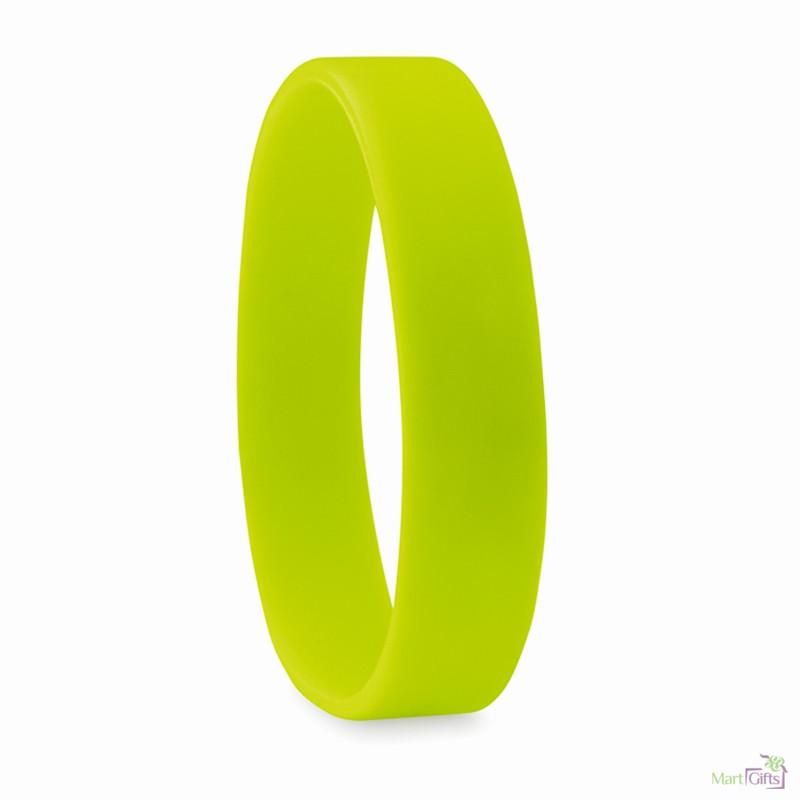 2ae5acf7493e Pulsera Lisa de Silicona para Personalizar Color Verde Lima