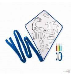 Cometa Infantil para Colorear con 4 Rotuladores Promocional