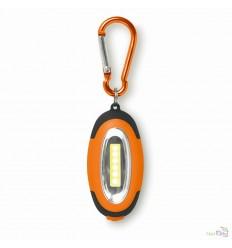 Luz LED con Imán y Mosquetón para Personalizar Color Naranja