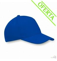 Gorra de Béisbol en Poliéster con 5 Paneles para Regalo Publicitario Color Azul Royal