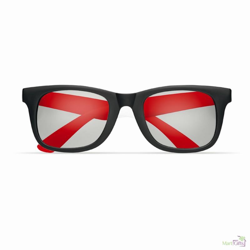 Gafas de Sol con Montura de Color y Patillas Negras Publicitaria