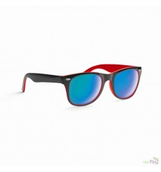 Gafas de Sol con Montura Bicolor y Lentes de Espejo Promocional