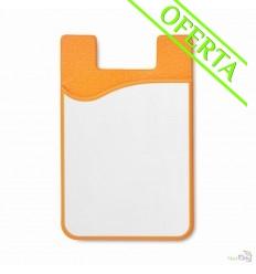 Tarjetero de Silicona Especial para Sublimación Económico Color Naranja