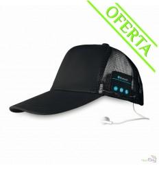 Gorra de 5 Paneles con Auriculares y Bluetooth Merchandising Color Negro