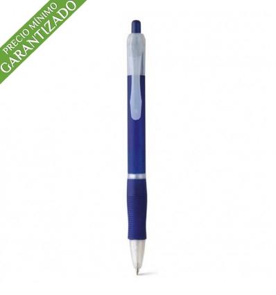 Bolígrafo Publicitario Barato de Plástico con Logo color Azul