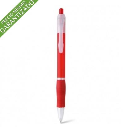 Bolígrafo Publicitario Barato de Plástico Personalizado color Rojo