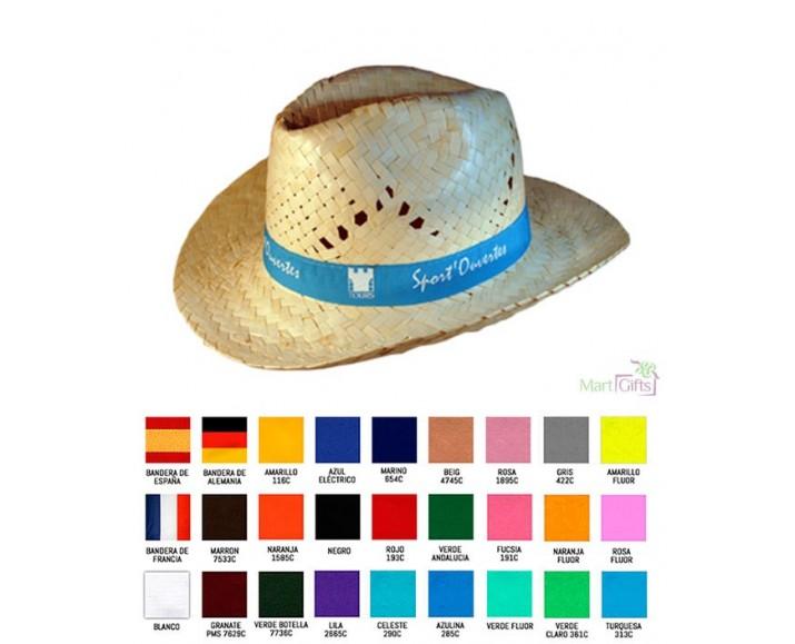... Sombrero de Paja Tejano Estilo Cowboy - Colores de la Cinta 8e44798453f